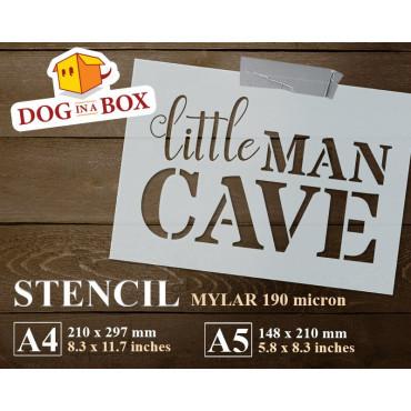 Little Man cave stencil -...