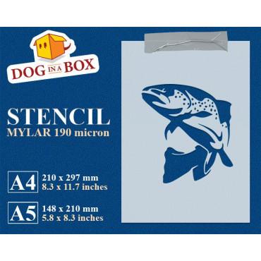 Fish stencil n.1 - Reusable...