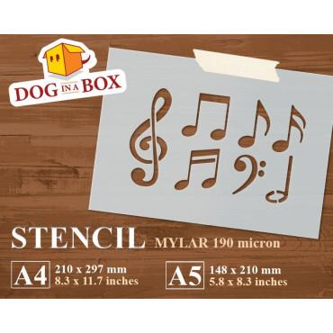 Music notes stencil -...