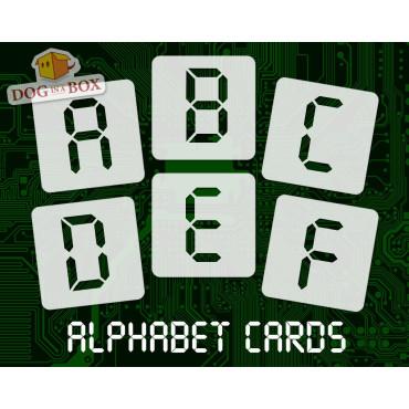 Alphabet stencils font n.11...