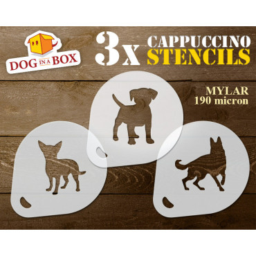 Dogs stencils n.3 (set of...