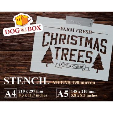 Christmas Trees stencil -...