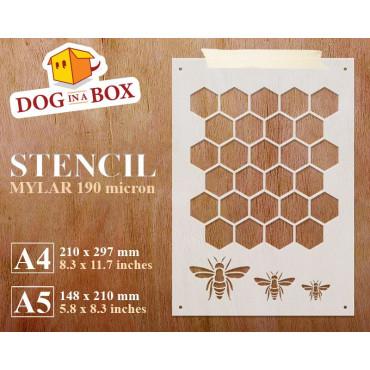 Honeycomb stencil -...