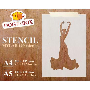 Flamenco dancer stencil -...