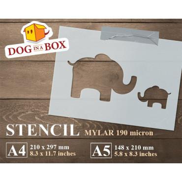 Elephants stencil -...