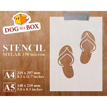 Flip Flops stencil -...