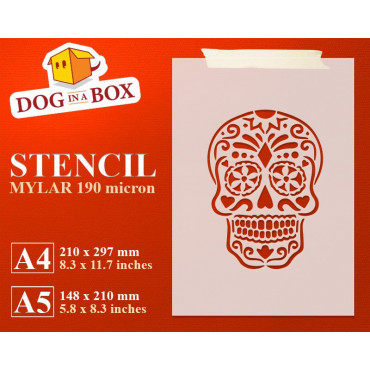 Sugar Skull stencil n.1 -...