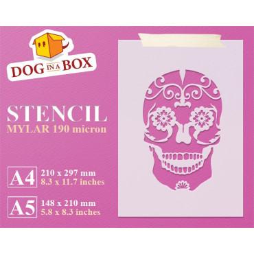 Sugar Skull stencil n.2 -...