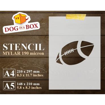 Football stencil - Reusable...