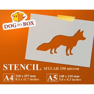 Fox stencil n.2 - Reusable...