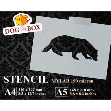 Badger stencil - Reusable...