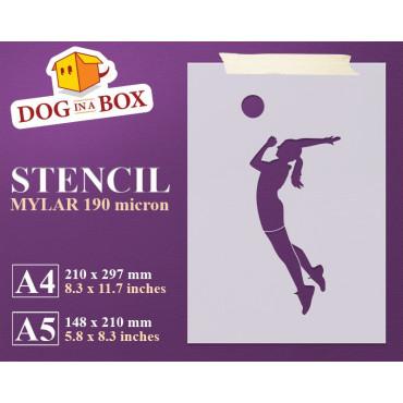Volleyball stencil -...