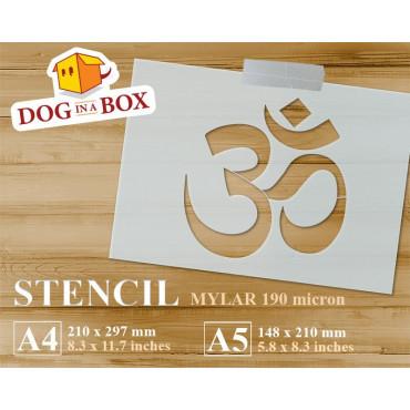 Om symbol stencil - Yoga...