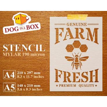 Farm Fresh Honey stencil -...