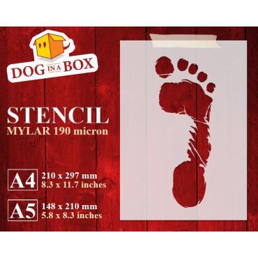 Footprint stencil (right...
