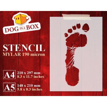 Footprint stencil (left...