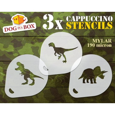Dinosaurs stencils n.1 (set...