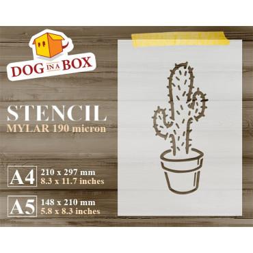 Cactus stencil n.1-...